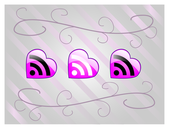 Love RSS Feed Vector