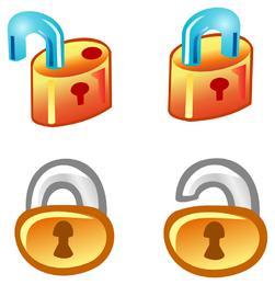 Free Vector Lock Icons