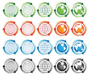 Erde-Pfeil-Symbol Vektor Material