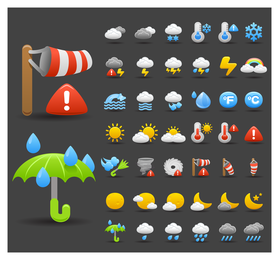Cartoon Weather Icon 1