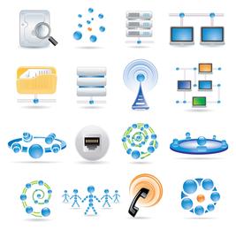 Tecnologia sofisticada azul ícone 2