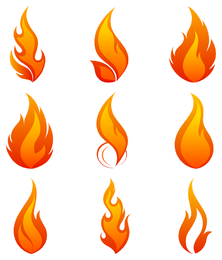 flame icon 1 vector