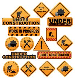 ícones de construção e construção