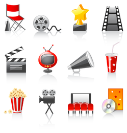 vetor de ícone de filme 3