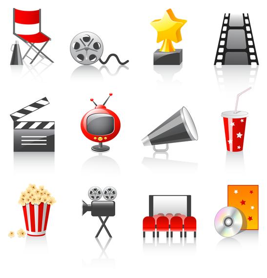 movie icon vector 3
