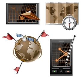 vector icono de mapa
