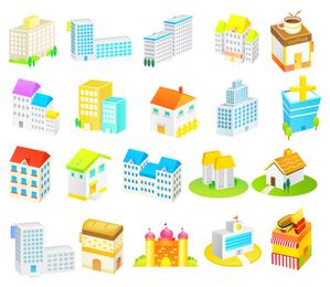 Cartoon construction icon