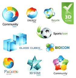 Colorful 3D Icon set