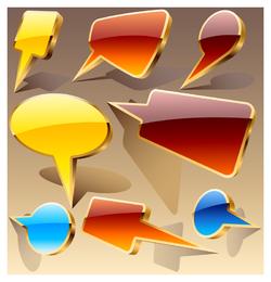 cool threedimensional icon vector