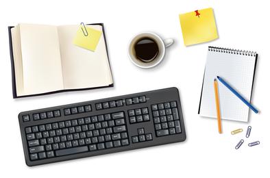 Ilustrações de elementos de escritório