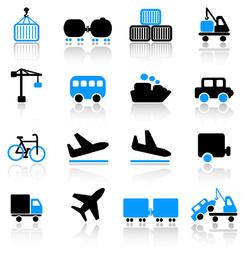 icono de transporte 3 vector