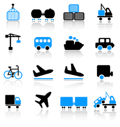 transport icon 3 vector
