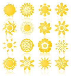 die Sonne Vektorgrafiken