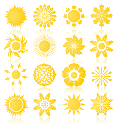 the sun vector graphics