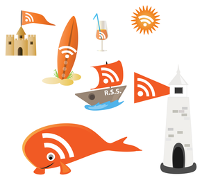 special rss icon vector