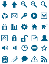 Vector libre Icon Set 4