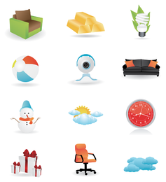 Icon set with multiple random items