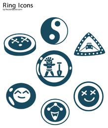 Vector gratis iconos de anillo