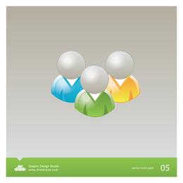 Paquete de iconos vectoriales de usuario