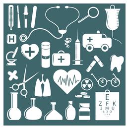einfacher medizinischer Ikonenvektor