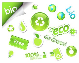 série de vetor de ícone ambiental