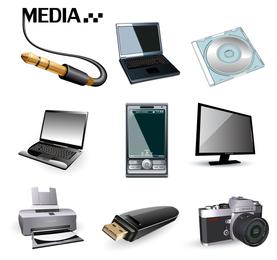 Vector icono de producto digital