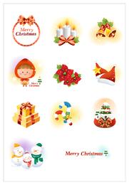 Icono de navidad vector 3