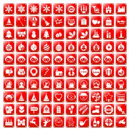 simple icono rojo de navidad