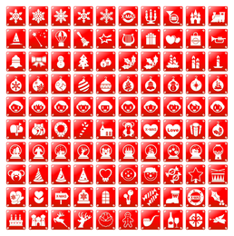 simple red christmas icon