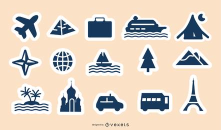vector de iconos de dibujos animados