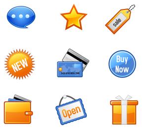 ícone ir artigos de compras