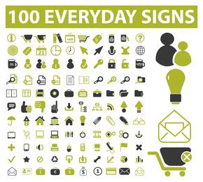 100 signos cotidianos