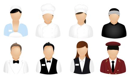 el vector icono de profesiones