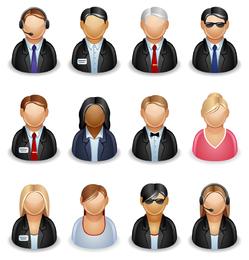 user role icon vector