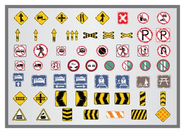 Antiguo icono de señales de tráfico 4