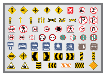 Old Traffic Signs Icon 4