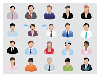 Icono de Vector de personas de negocios