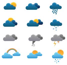 Freie Wetter-Vektor-Icons 3