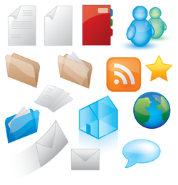 Conjunto de iconos de elementos web