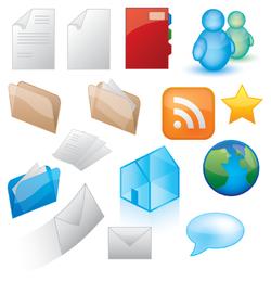 Set of web elements icons