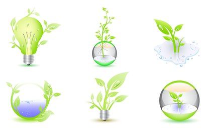 3D ecology icon set