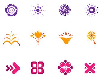 Conjunto de elementos de diseño de iconos