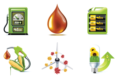 Bio fuel 3D icons