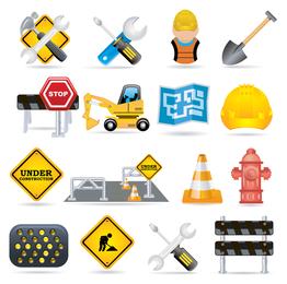 fine vector construction traffic