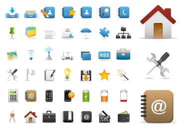 Coleção de ícones variados