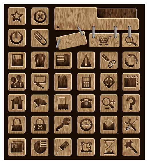 wood icon vector