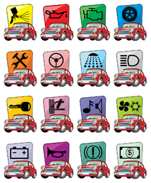 vector de icono de coche de dibujos animados