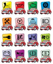 vetor de ícone de carro dos desenhos animados