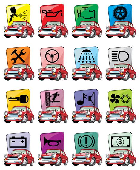 cartoon car icon vector