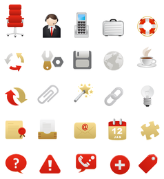 2 ícone do tema vermelho